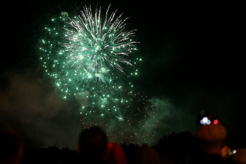 TREVOR HAGAN / WINNIPEG FREE PRESS Fireworks display to conclude Canada Day and Canada 150 celebrations at The Forks, Saturday, July 1, 2017.