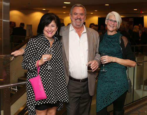 JASON HALSTEAD / WINNIPEG FREE PRESS  L-R: Gina Curatolo (Empty Bowl committe member), Barry Searcy (sponsor Beaver Truck Centre) and Carol Robson (Empty Bowl committe member) at Winnipeg Harvest's Empty Bowl Celebrity Auction on Oct. 10, 2017 at the Delta Winnipeg. (See Social Page)