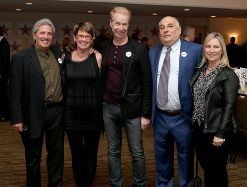 JASON HALSTEAD / WINNIPEG FREE PRESS  L-R: Gary Brenner (Empty Bowl event co-chair), Arlene Wilson (Empty Bowl committe member/sponsor MacDon Industries), Gord Pollard (sponsor Pollard Banknote) and sponsors Craig and Deb Kitching at Winnipeg H Harvest's Empty Bowl Celebrity Auction on Oct. 10, 2017 at the Delta Winnipeg. (See Social Page)