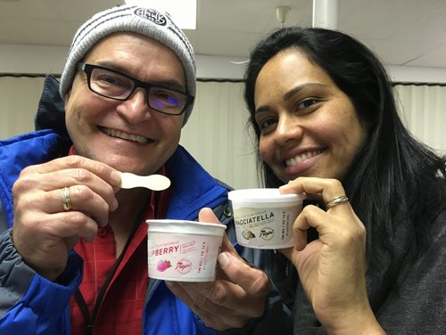 CAROL SANDERS/WINNIPEG FREE PRESS  Pedro Lopez and his wife Suner Gascon are preparing to open a gelato factory in Altona in the new Year. The couple from Venezuela owned a gelato business in El Tigre, Venezuela before immigrating to Manitoba five years ago. They both work at Friesen's in Altona and making 600-litre batches of the sweet frozen treat in test kitchens at the University of Manitoba that they sell for $2.50 a  at the Co-op in Altona. With the help of the town, they're planning to scale up their operation in Altona in January and market their Tropi brand of gelato across Canada and the U.S. November 1, 2017