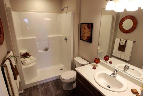 BORIS MINKEVICH / WINNIPEG FREE PRESS NEW HOMES - 139 Castlebury Meadows Drive. Master bathroom. TODD LEWYS STORY  Feb. 12, 2018