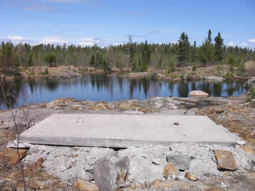 Photo 9 is the closed Star Lake gold mine. The mine shaft opening has been cemented over.  BILL REDEKOP/WINNIPEG FREE PRESS