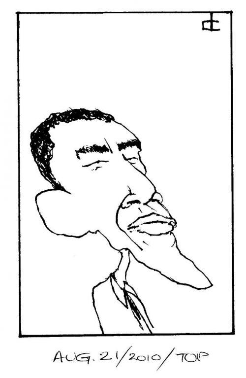 Obama dinky Aug 21, 2010 Winnipeg Free Press