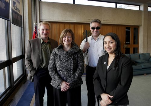 Ruth Bonneville Winnipeg Free Press Oct 28, 2010 Local,  Mayor Sam Katz will be joined by four new city councillors — including the first blind one and first Indo-Canadian one — when he heads back to Winnipeg City Hall next week.  Names from left  - Thomas Steen in Elmwood-East Kildonan, Paula Havixbeck in Charleswood-Tuxedo, Ross Eadie in Mynarski, and  Devi Sharma in Old Kildonan.