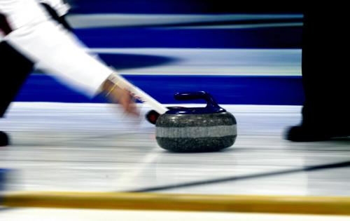 BORIS.MINKEVICH@FREEPRESS.MB.CA   BORIS MINKEVICH / WINNIPEG FREE PRESS 101101 McDairmid Senior Mens Bonspiel finals at the Fort Garry Curling Club. Art photo illustration of throwing curling rocks.