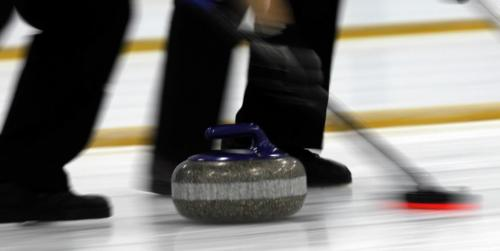 BORIS.MINKEVICH@FREEPRESS.MB.CA   BORIS MINKEVICH / WINNIPEG FREE PRESS 101101 McDairmid Senior Mens Bonspiel finals at the Fort Garry Curling Club. Art photo illustration of throwing curling rocks.