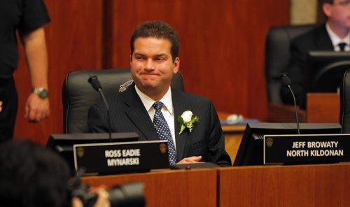 BORIS.MINKEVICH@FREEPRESS.MB.CA   BORIS MINKEVICH / WINNIPEG FREE PRESS 101102 City Hall elected councillors and mayor swearing in event. Jeff Browaty.
