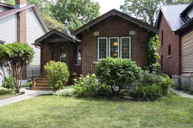 <p>The quaint, red-brick facade of the bungalow at 118 Borebank St. in River Heights is unassuming and reminiscent of a dollhouse. Its interior quickly shatters that illusion. (Photos by Andrew Ryan / Winnipeg Free Press)</p>