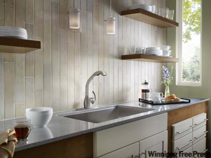 The fusion kitchen winnipeg free press homes for Upper kitchen cupboards