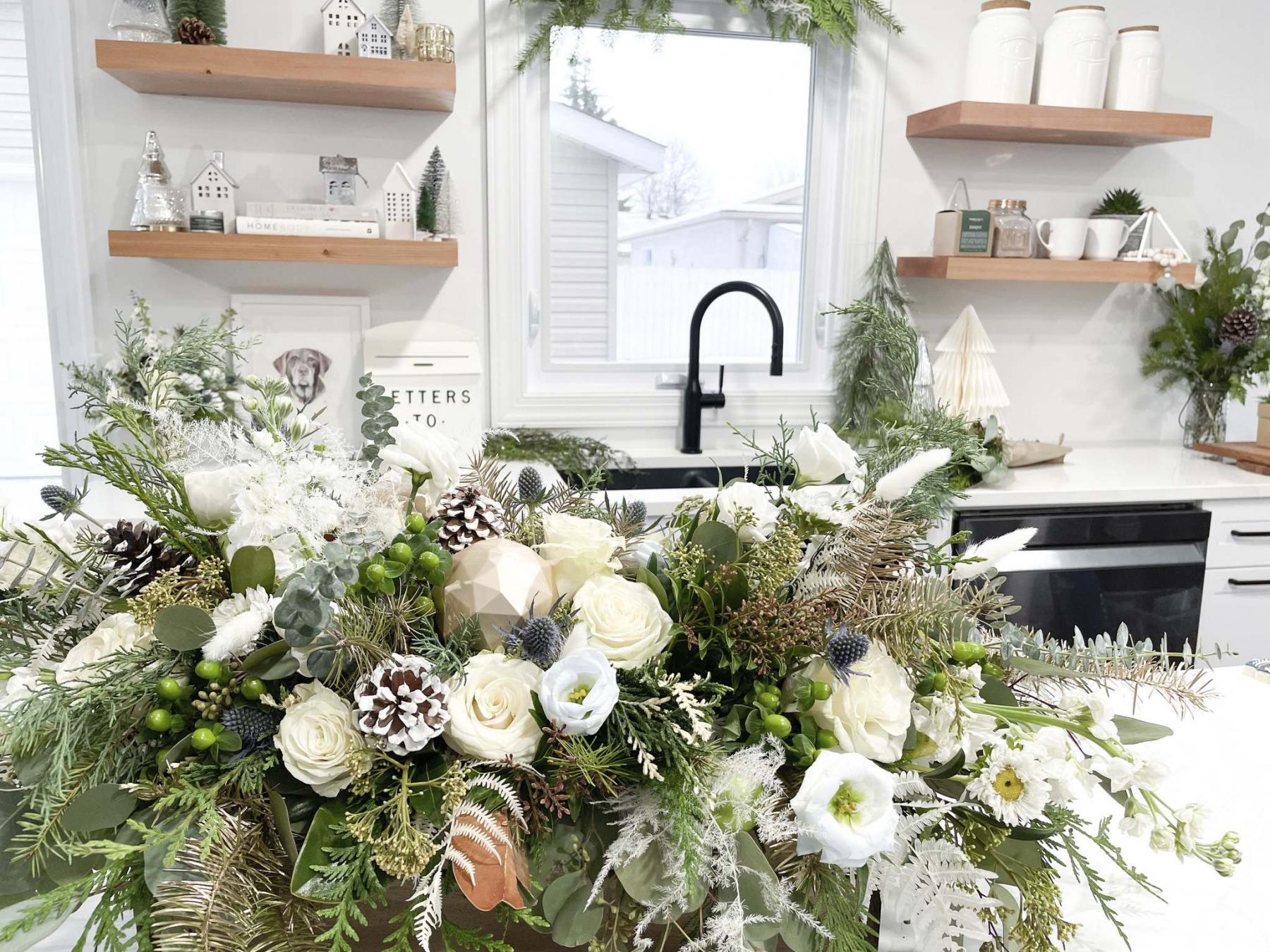 <p>Decorate your home for the holidays with a breathtaking garden-inspired floral arrangement.</p>