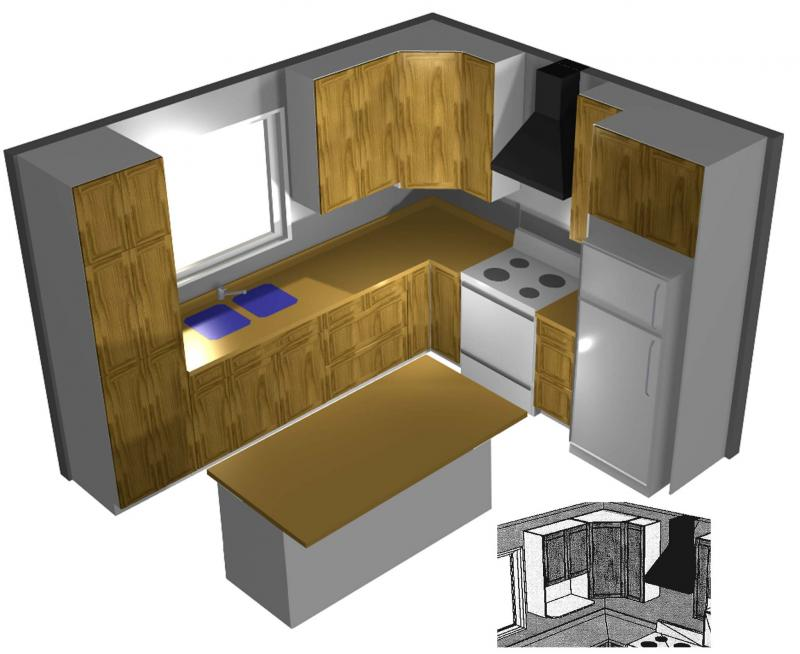 <p>Using 3D renderings allows clients to visualize their kitchen designs.</p></p></p>