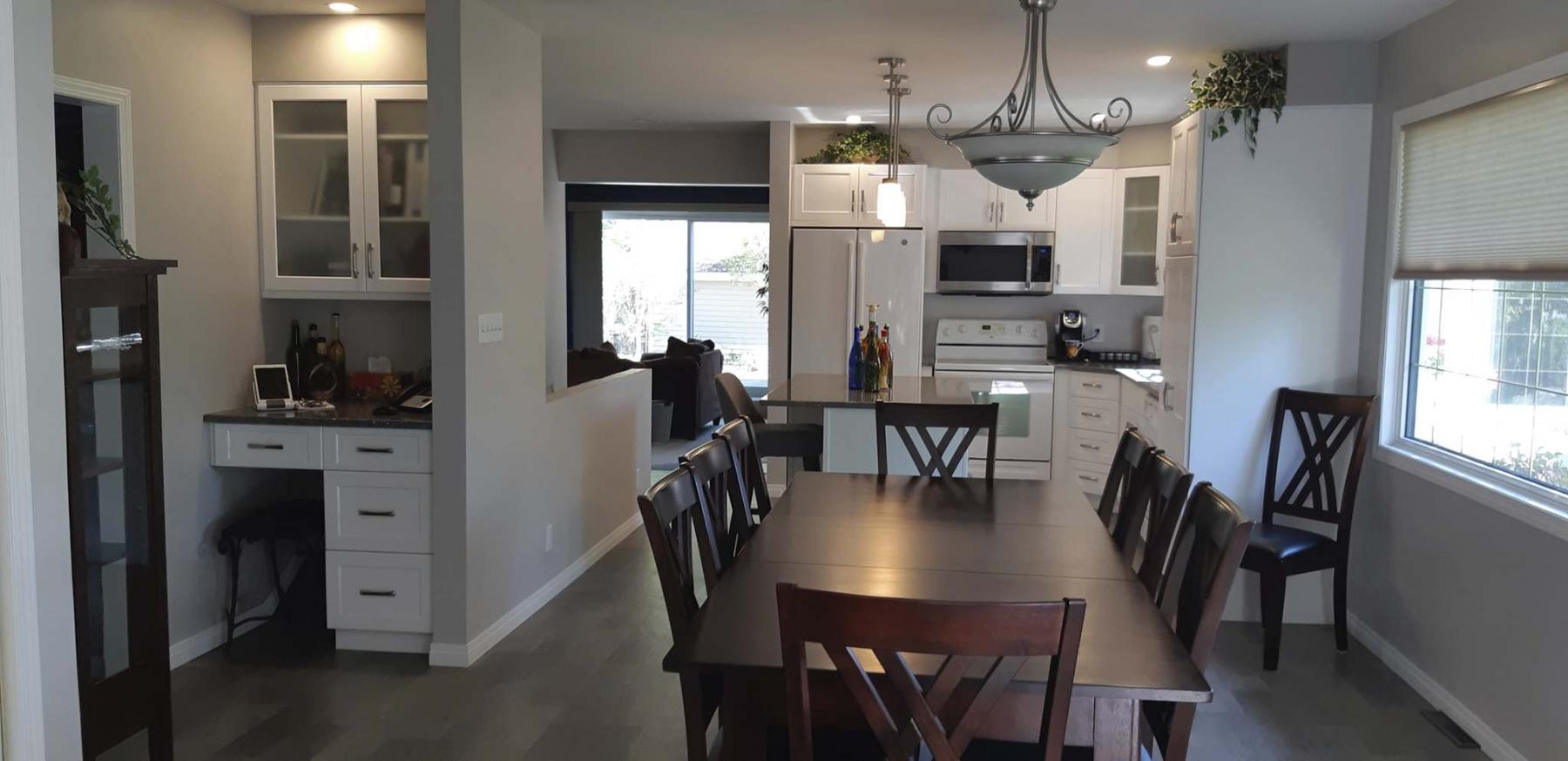 <p>Supplied photos </p><p>Despite a pandemic, the Kroekers were able to complete a spiffy kitchen renovation that really spruced things up — which is evident when compared to the previous kitchen. </p>