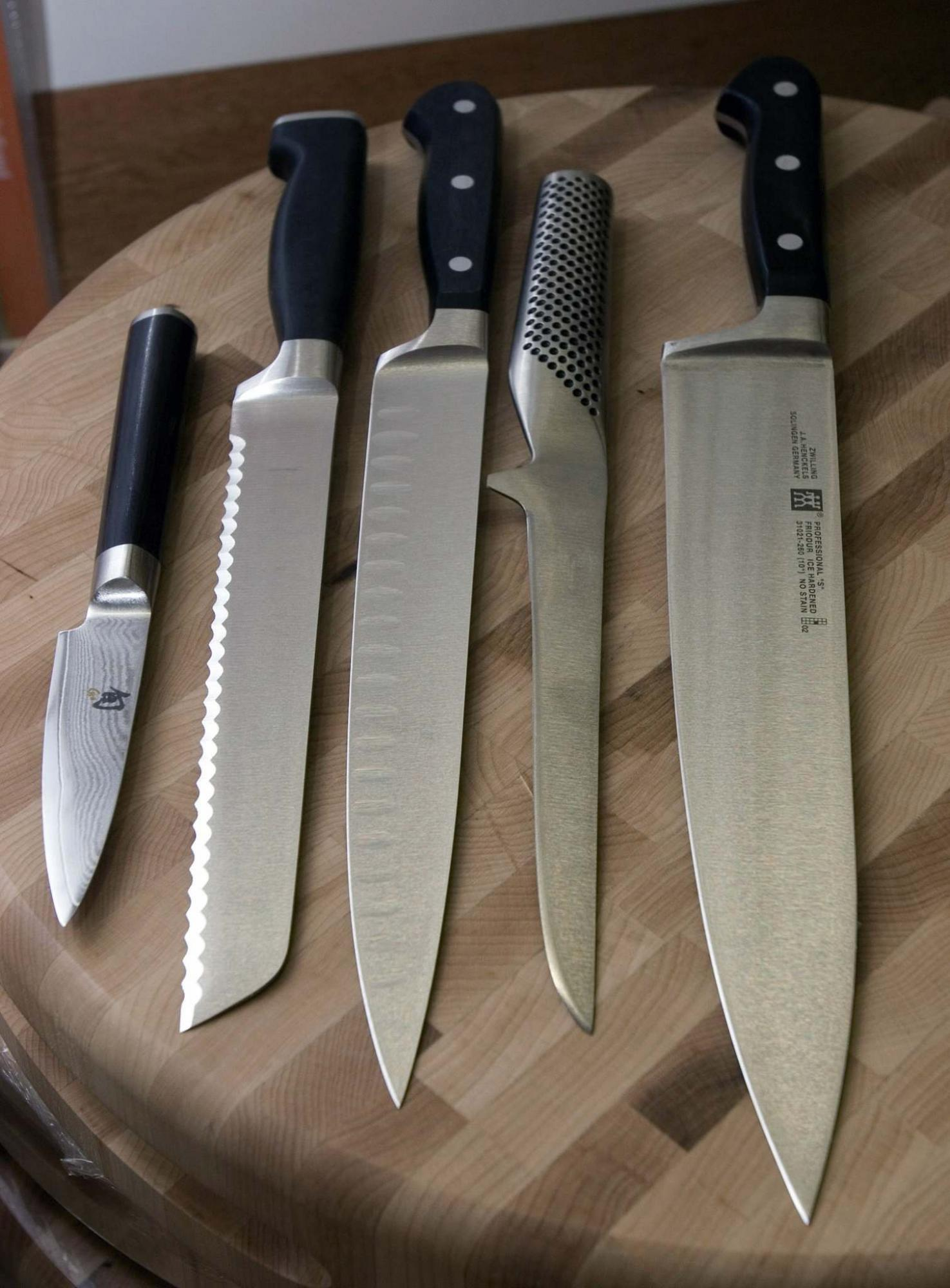 <p>Larry Crowe / Associated Press files</p><p>Sharp knives of good quality are actually safer in the kitchen than cheap and dull blades. </p>