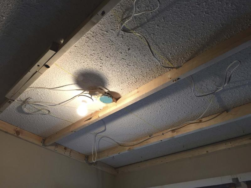 install drywall ceiling recessed lights