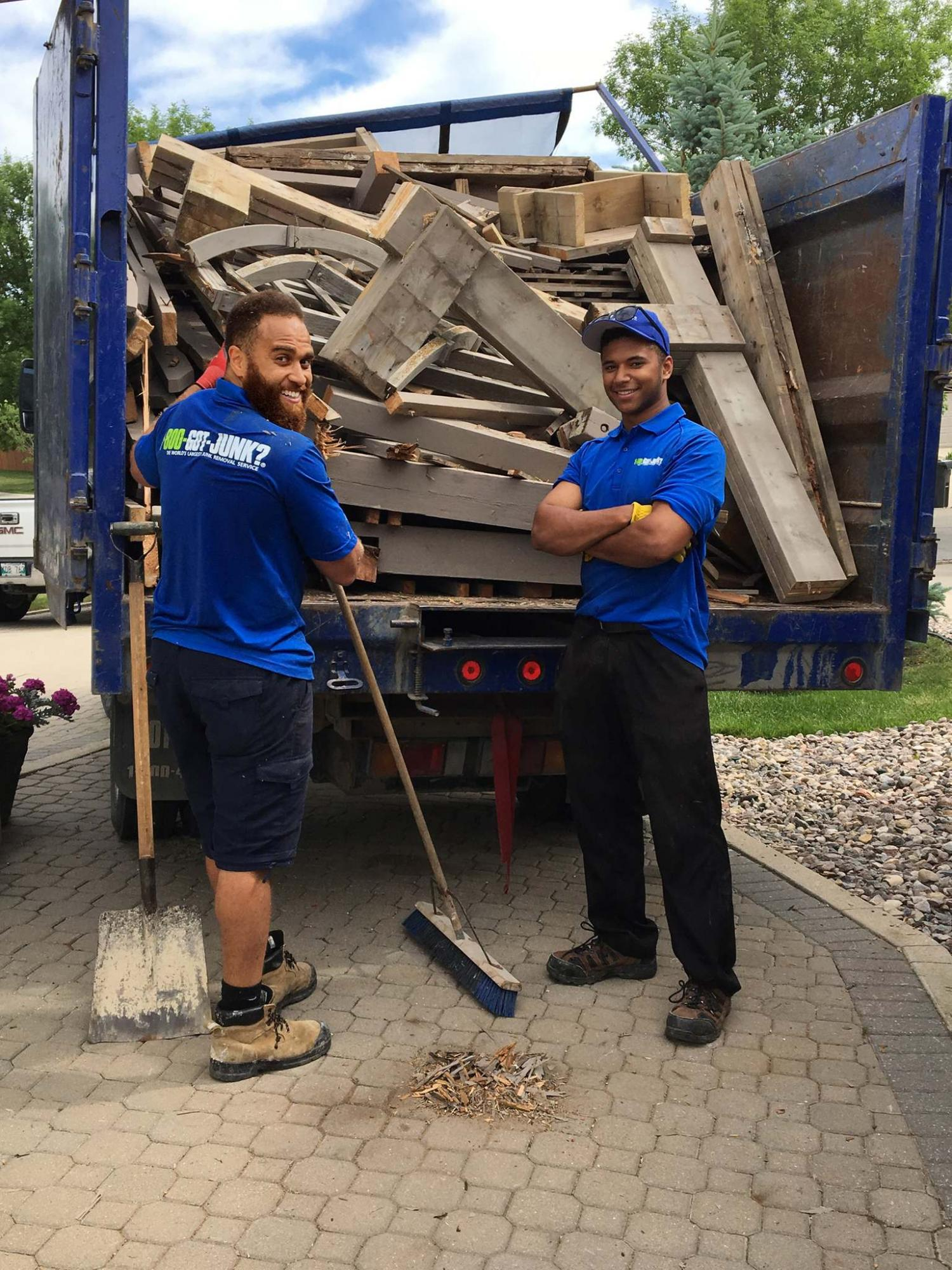 Hiring crew to remove junk takes a load off of large