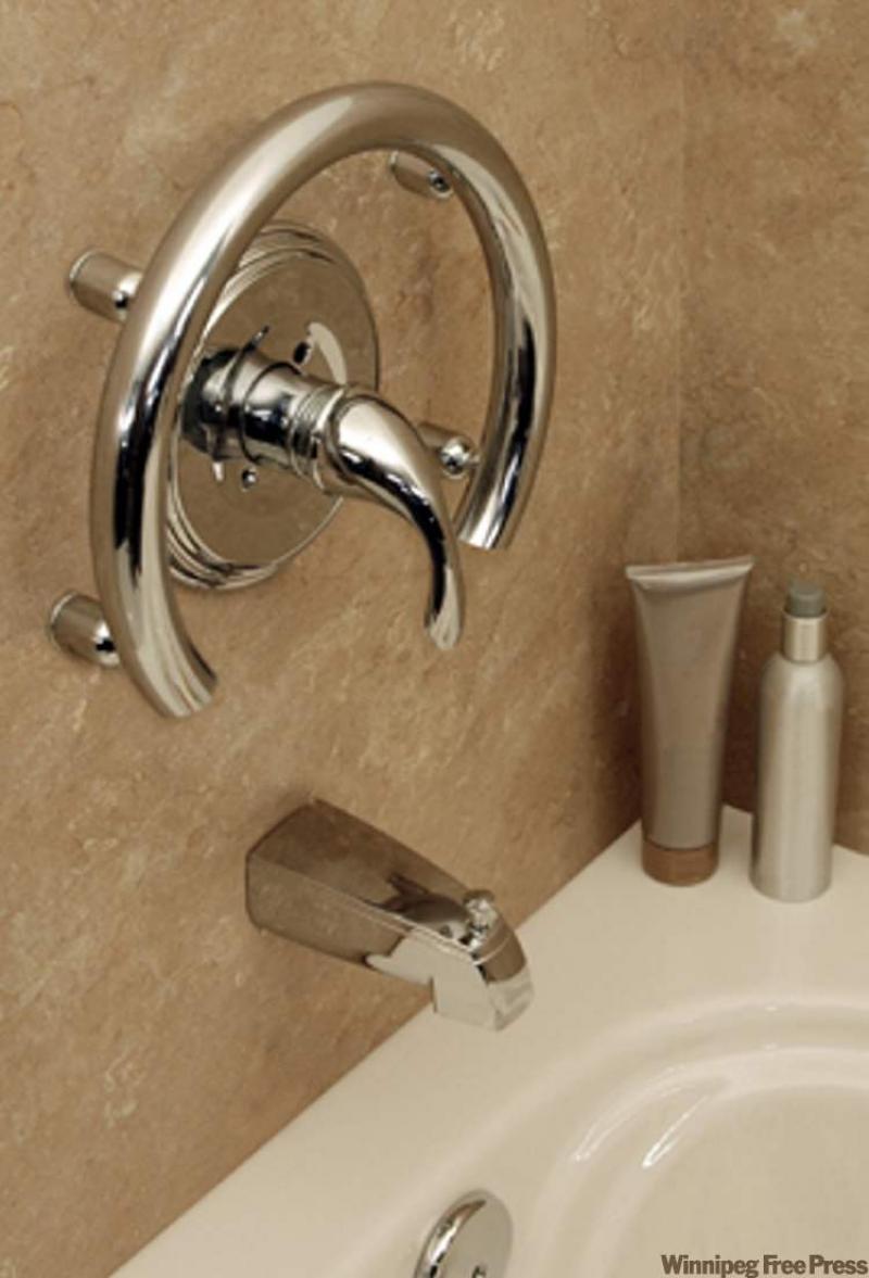 Grab bars deliver elegance safety to bathrooms winnipeg - Grab bars for toilet in bathrooms ...