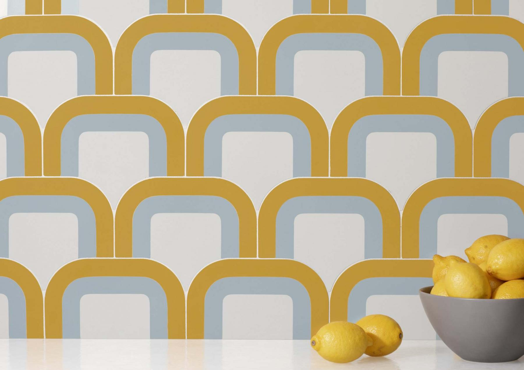 <p>Walker Zanger / The Associated Press Files </p><p>Tile by Australian designer Pietta Donovan, who has created a hip collection of cement tile inspired by the kaleidoscopic shapes, curvy profiles and distinct colorways of '70s wallpaper.</p>