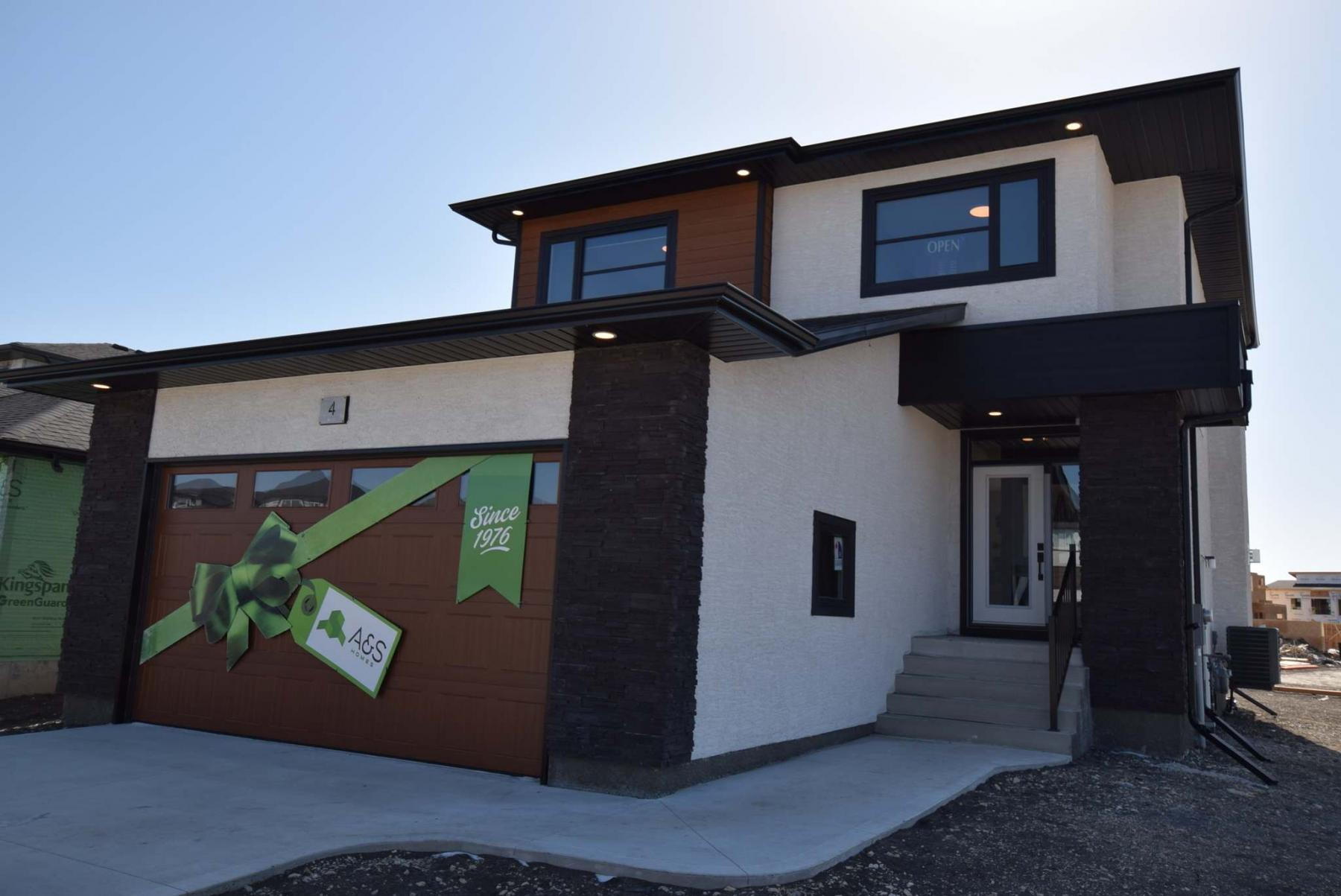 <p>The Indra II, a stylish new design by A &amp; S Homes, is on display in Prairie Pointe. </p>