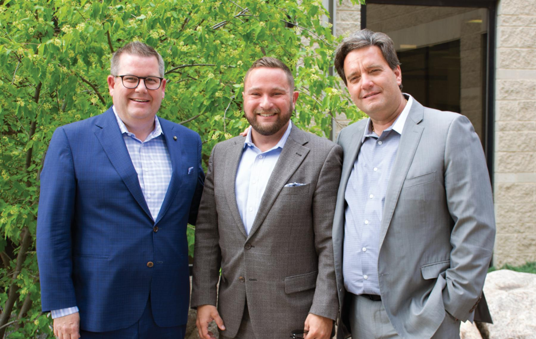 Jonathon Lyon (president and CEO of the HSC Foundation), Vince Barletta (president and CEO of the St. Boniface Hospital Foundation) and Stefano Grande (president and CEO of The Children's Hospital Foundation of Manitoba), 2019 Photo Credit
