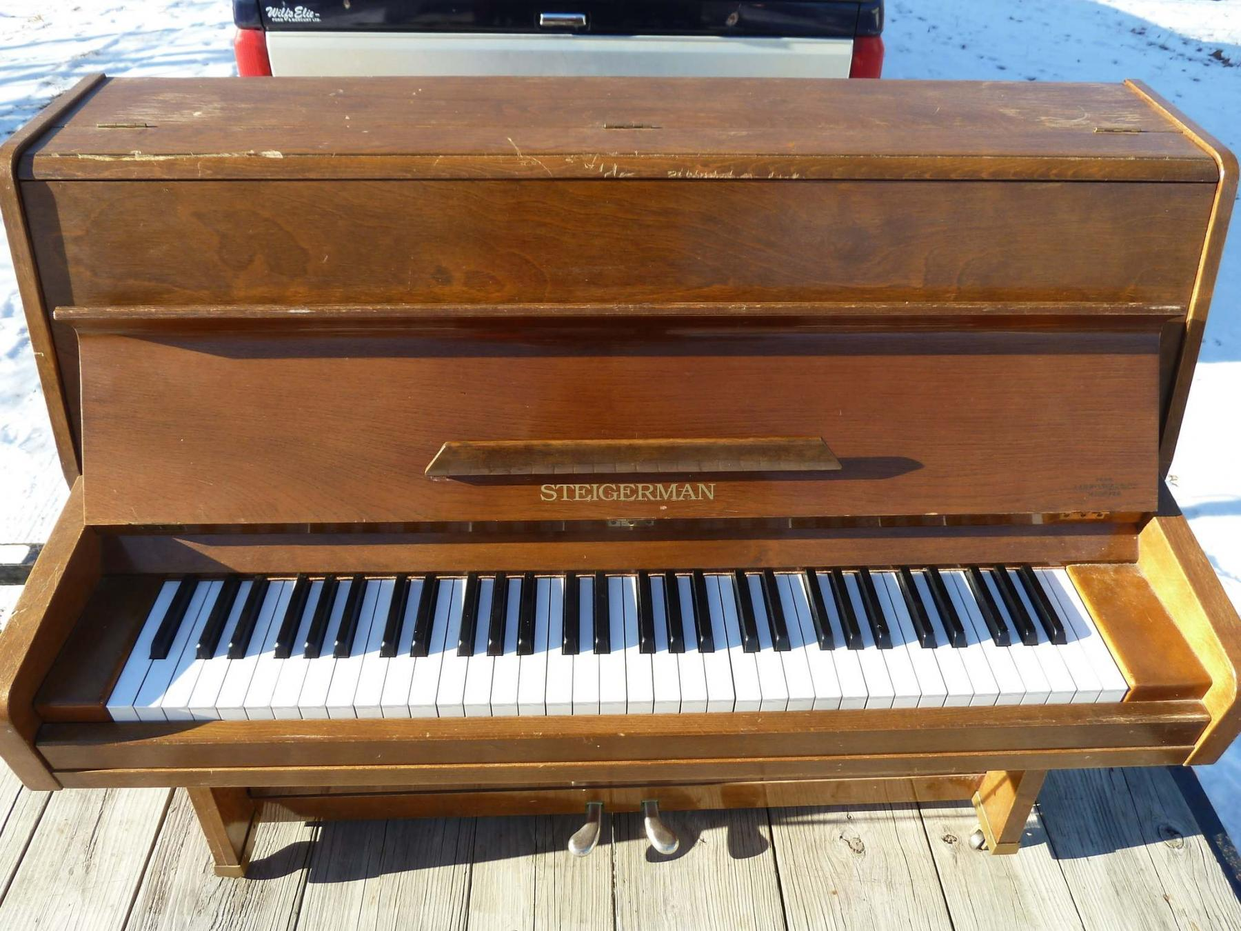 <p>Mustard has saved another piano, this small Steigerman model was destined for the landfill. </p>