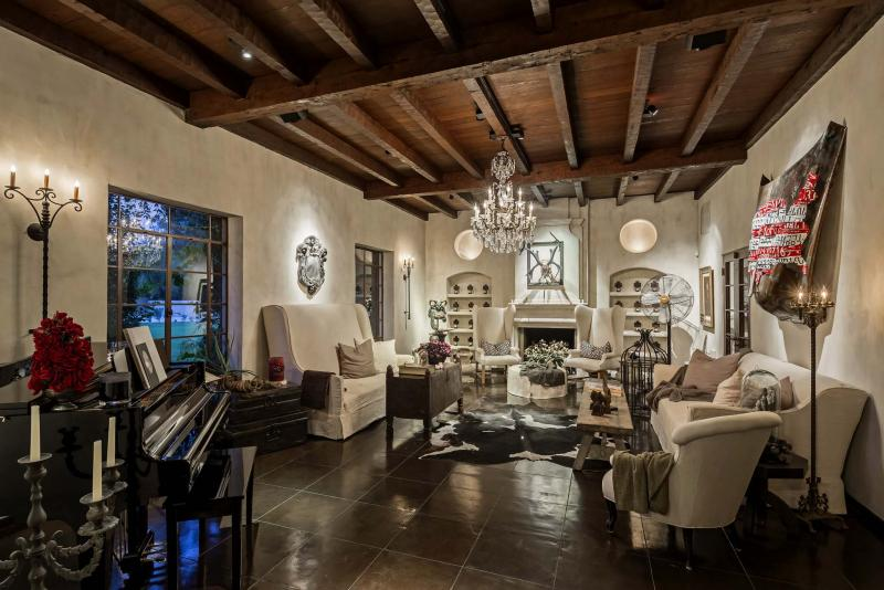 <p>Jason Roehner / High Res Media</p><p>Wood-beamed ceilings are one of the charms of the 1930s Phoenix home sold by actor Frankie Muniz.</p>