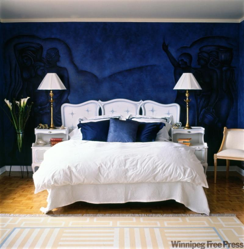 This Radiant Blue Bedroom Wall Has The Power To Bring Down Your Blood  Pressure And Clear Your Mind.