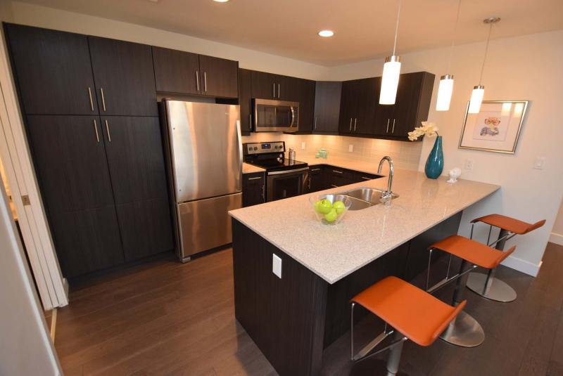 <p>Todd Lewys / Winnipeg Free Press</p><p>The Junction kitchen offers quartz countertops, tile backsplashes, soft-close thermofoil cabinets and under-cabinet lighting. The entire home has around $40,000 worth of upgrades.</p>
