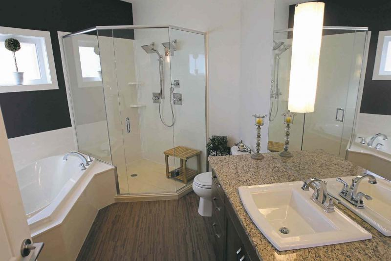 The lower level features a well-appointed four piece bathroom.