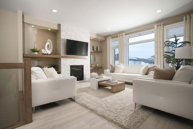 <p>MHBA</p><p>The great room of a show home in Taylor Farms that will be featured in this fall's Parade of Homes</p></p>