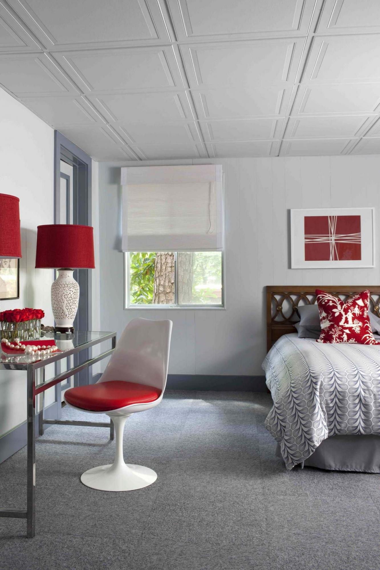<p>Sarah Dorio / HGTV</p><p>Rust on the grids of a drop ceiling is a recipe for disaster and requires remediation.</p>