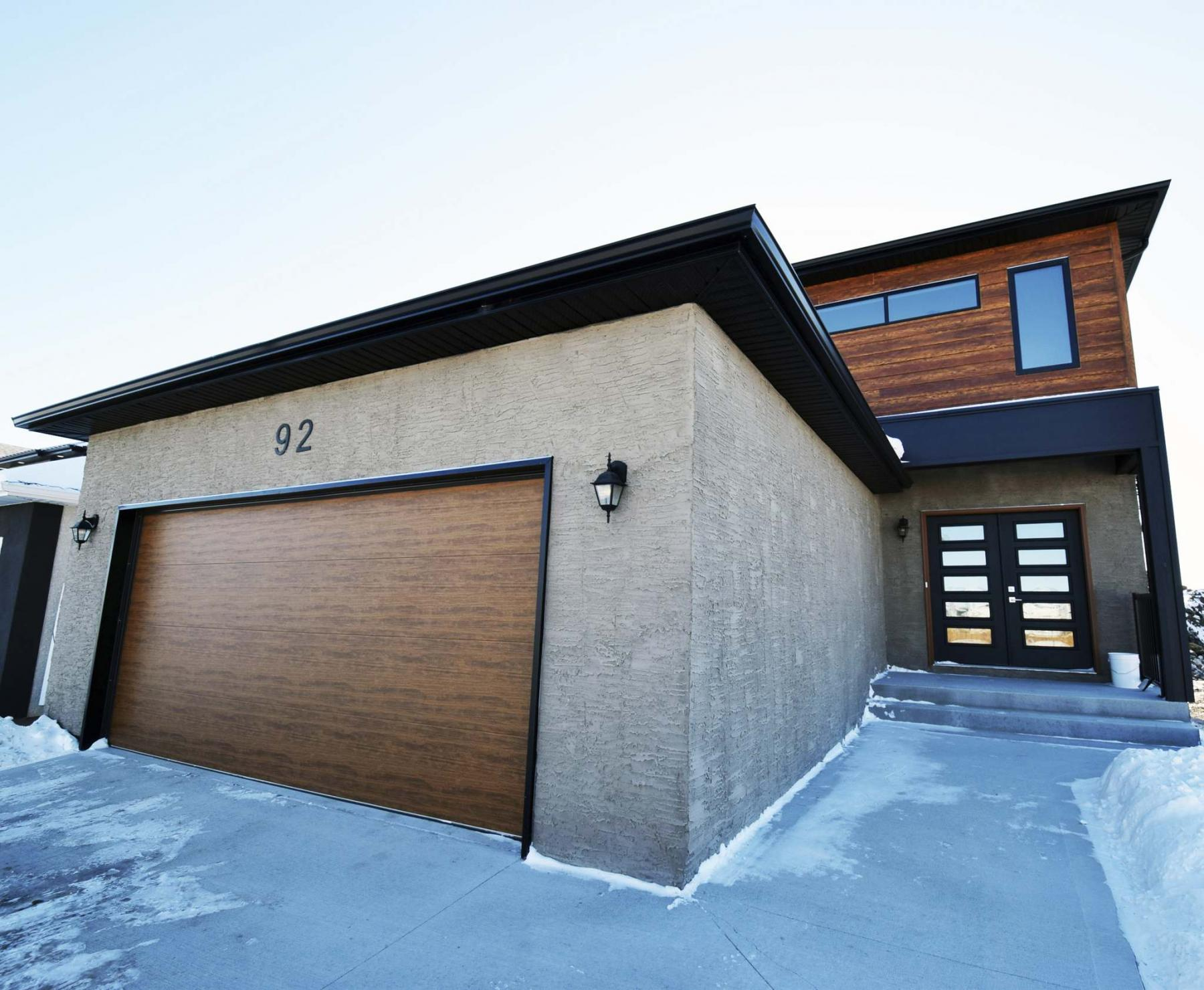 <p>Photos by Todd Lewys / Winnipeg Free Press</p><p>A brand-new design, the 2,069 sq. ft., two-storey Tara features a modern low-maintenance exterior. </p>