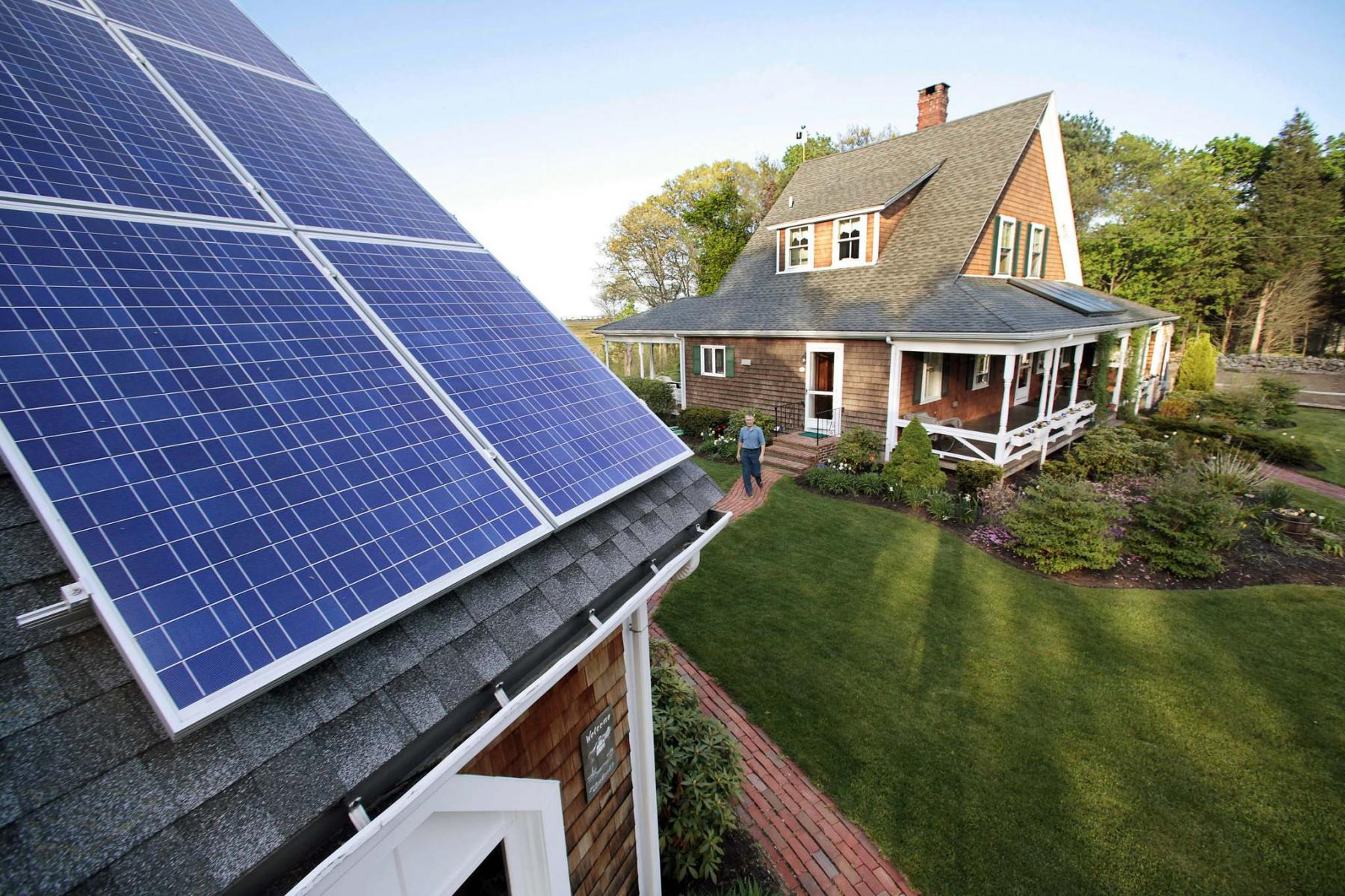 <p>Stephan Savoia / TRIBUNE files</p><p>Fitting your roof with solar panels can reduce your electricity bill by thousands of dollars over its 25-year lifespan.</p>