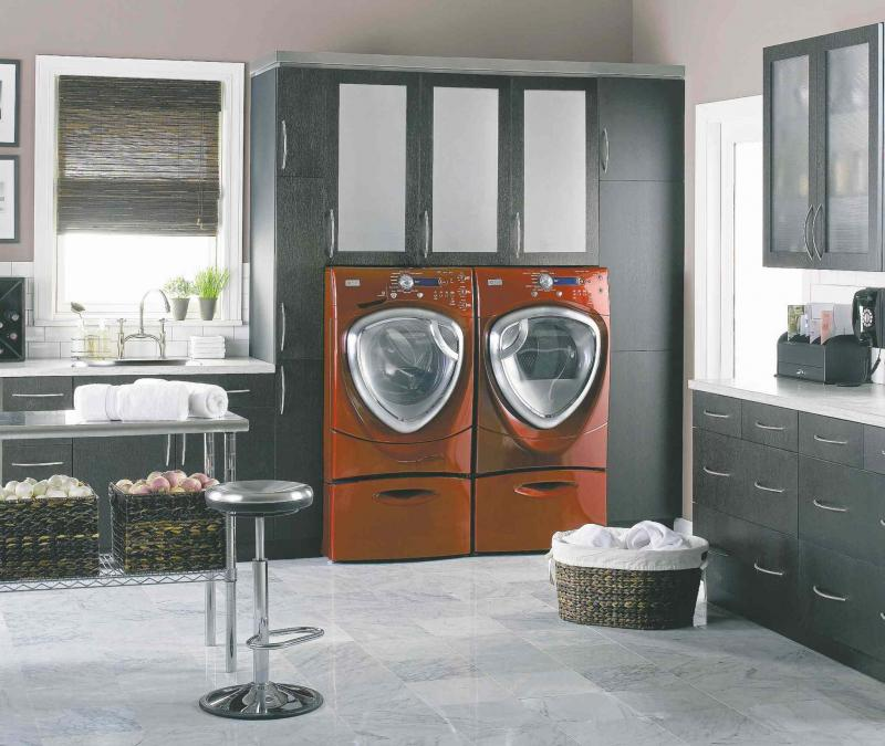 GE Appliances A Stylish Laundry Room Will Make Short Work Of A Weekly Chore.