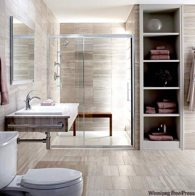 Clever Ideas For Small Bathrooms Part - 15: Many, If Not All Of The Clever Ideas Used In This Bathroom, Can Be Applied  To Your Home To Make Any Space Feel Larger.