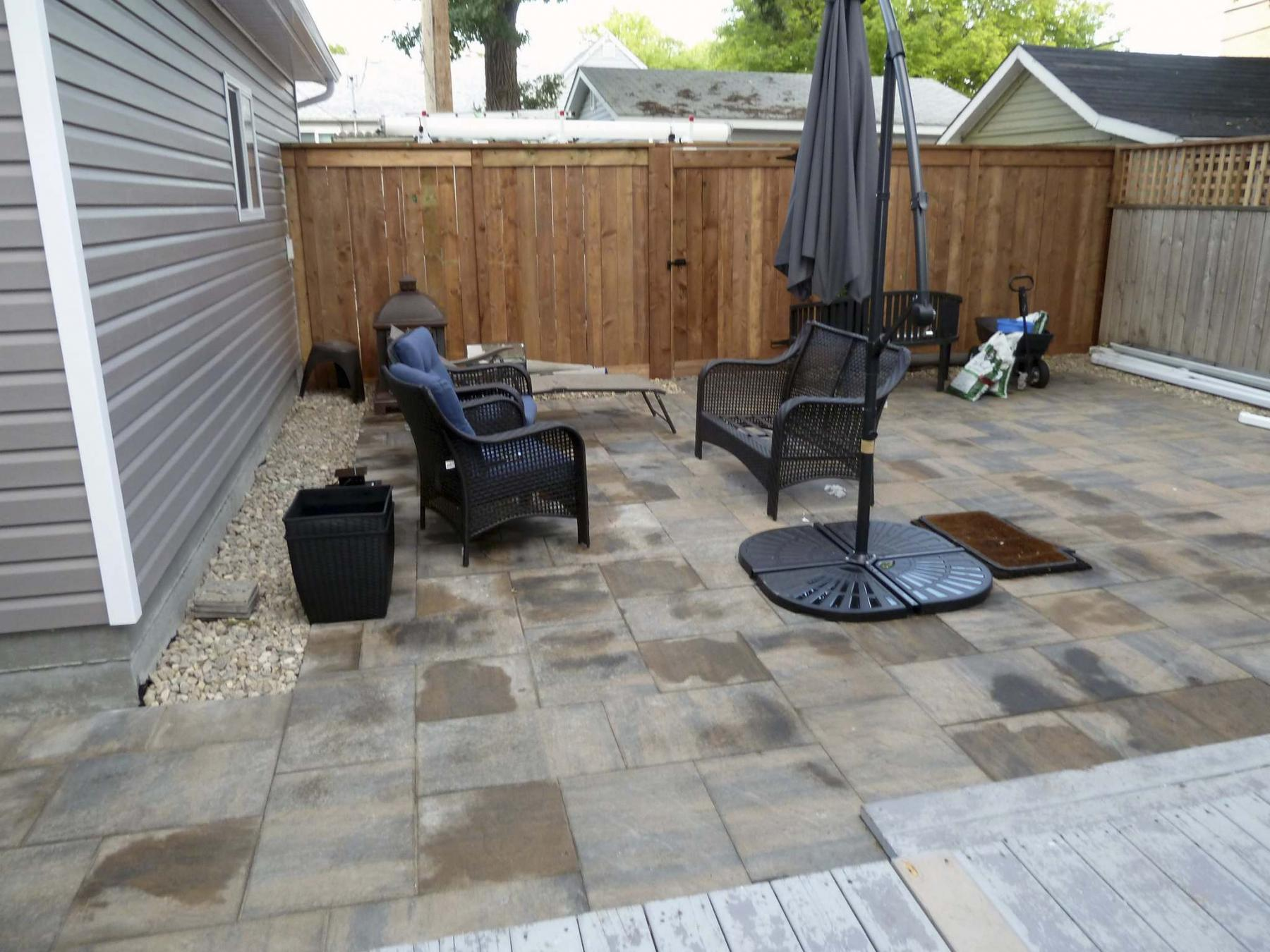 <p>Laurie Mustard / Winnipeg Free Press</p><p>Laurie's friend Beverly Johnson is thrilled with how her home reno is moving along, especially the new backyard, but she warns anyone hiring contractors that communication is king. </p>