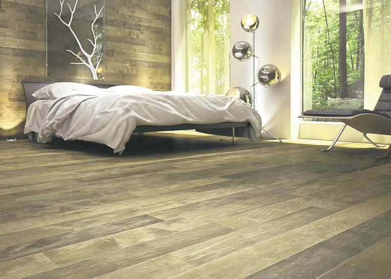 This photo courtesy of Lauzon Flooring, shows just how beautiful flooring  can be when applied to the floors and walls together.