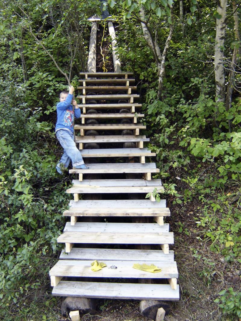 <p>Laurie Mustard / Winnipeg Free Press</p><p>When the Mustard family cabin in Killarney was in need of a stairway, the solution was simple (more or less) — build one.</p>
