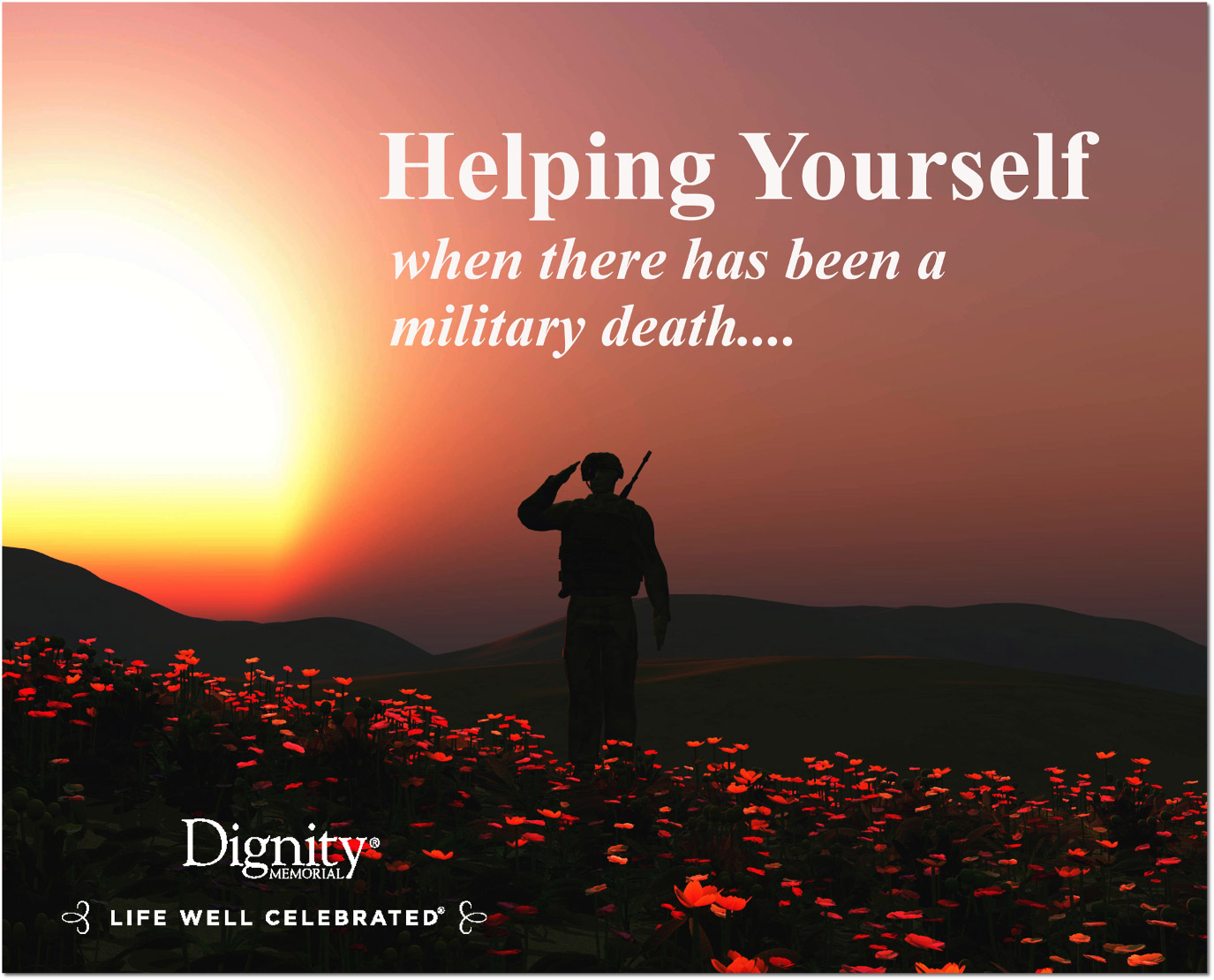 Helping yourself when there has been a military death