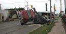An dump truck ...