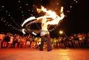 Fire dancers ...