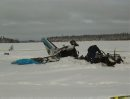 Photo's from The Transportation Safety Board of Canada of plane crash. North Spirit Lake news release On 10 January 2012, at approximately 10:05 Central Standard Time (CST), a Piper PA-31 (Navajo)  crashed near North Spirit Lake, Ontario. The aircraft was Keystone Air Service Ltd. Flight 213, from Winnipeg, Manitoba to North Spirit Lake, Ontario. It crashed on a lake about 1.1 nautical miles from the runway. There was a post-crash  fire and 4 of the 5 people on board were fatally injured. The survivor was airlifted to a care facility by an air ambulance at approximately 13:00 CST.