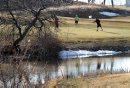 Golfers take ...