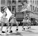 Winnipeg Free Press Archives July 3, 1961 Red River Exhibition Parade, band leaders.