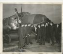 Winnipeg Free Press Archives Wartime Winnipeg  (02) A group of trainees look over a bombing plane on the opening day of the air  school at Winnipeg. (no date) fparchive