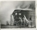 Winnipeg Free Press Archives Time Building Fire  (05) June 8, 1954 Firemen had arrived at 1 a.m., warned by an automatic alarm ... the fire, stubborn but confined for hours , fin- ally broke loose, fanned by the gale ...by 5 a.m. the Time building glowed with flame ... suddenly just after 6 a.m. the east wall fell spreading the fire to the Dismorr block across Hargrave street. . . within minutes the front wall of the Time building fell... by 8 a.m. the Dismorr building, too, was lost . . .  fparchive