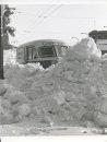 Winnipeg Free Press Archives Winnipeg Blizzard (29) March 5, 1966 Crescent Creamery truck in snow- Memorial Boulevard fparchive