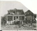 L.B. FOOTE/Winnipeg Free Press Archives Winnipeg storm  (7) June 17, 1919 Winnipeg scenes following wind storm   HOUSE SOMEWHAT DELAPIDATED Front view of 575 and 577 (Freedman's houses) Magnus Street. fparchive