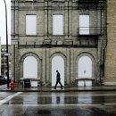 A pedestrian ...