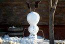 A snowman ...