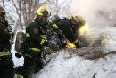 Fire crews ...